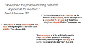 definitions of innovation